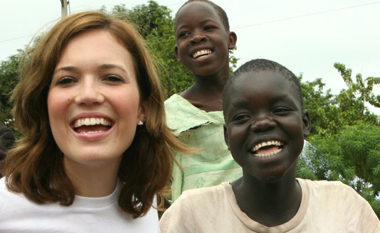 Mandy Moore on assignment with PSI's Five & Alive Fund