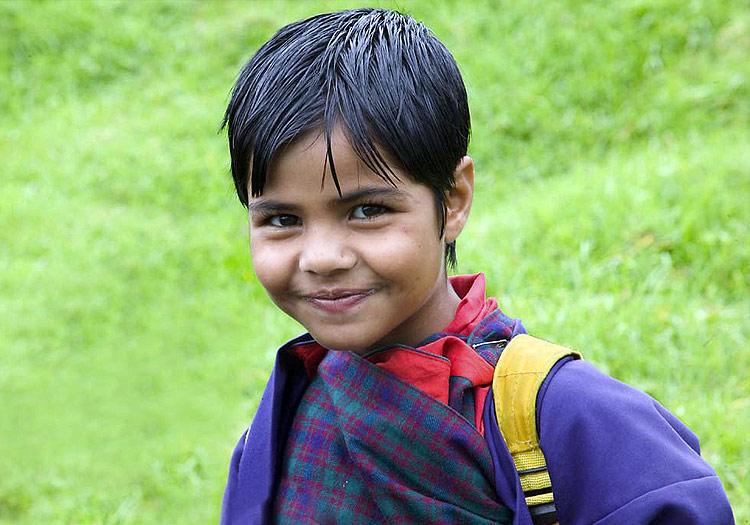 Schoolgirl in Bhutan