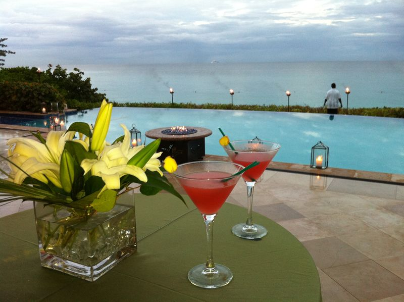 Ginger cosmopolitan at One&Only Ocean Club, Bahamas