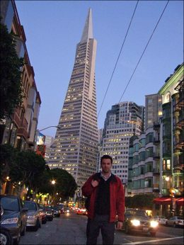 In front of San Francisco's TransAmerica building