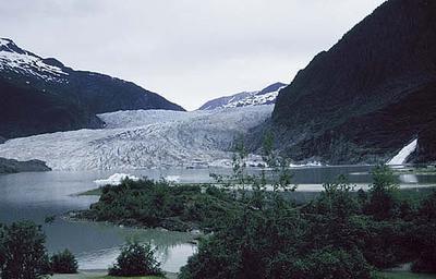 Mendenhall Glacier and Falls