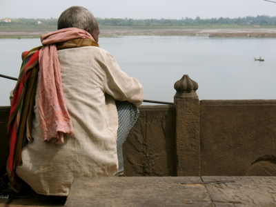 Man overlooking Ganges River