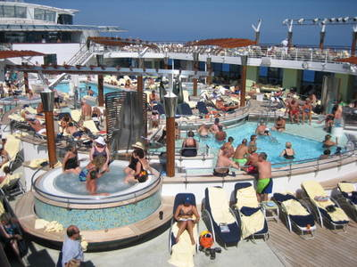 Pool aboard the Constellation