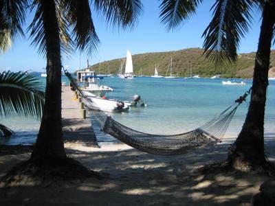 Hammock on Caribbean island
