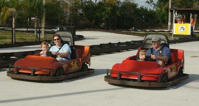 Racing Nascar gokarts in Stuart, Florida