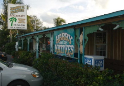 Roadside restaurant in Hobe Sound, Florida
