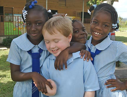 Schoolchildren in St. James Parish, Jamaica