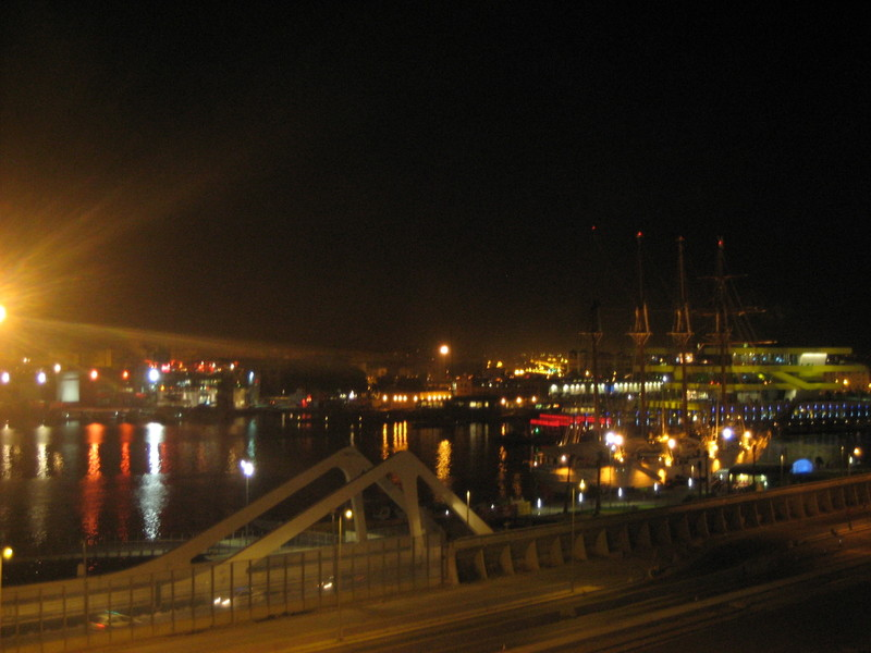 The mystery port at night