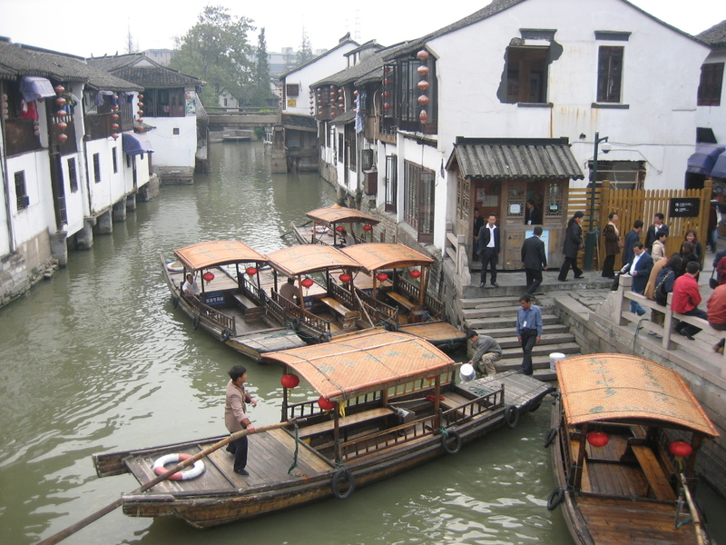 Sampans_in_zhujiaojiao