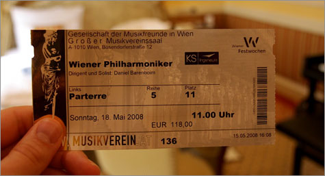 Ticket for the Vienna Philharmonic