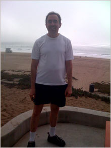 Michael Kinsley on Dockweiler State Beach